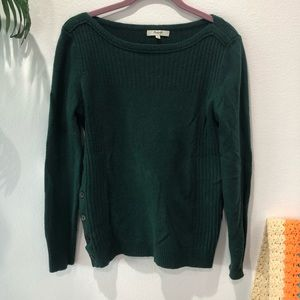 Madewell Emerald Green Sweater w Button Detail